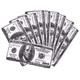 $100 Bill Microfiber Cloths, Set of 10, One Size
