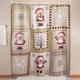 Americana Christmas Shower Curtain, One Size