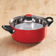 2.5 Quart Red Stainless Steel Saucepan with Lid, One Size