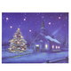 Lighted Church Canvas, One Size