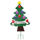 Personalized Metal Christmas Tree Lawn Stake, One Size