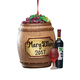Personalized Wine Barrel Ornament, One Size