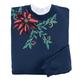 Embellished Poinsettia Sweatshirt, One Size