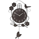 Atomic Swinging Bird Pendulum Clock, One Size
