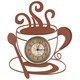 Metal Coffee Cup Clock, One Size