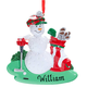 Personalized Golfball Snowman Ornament, One Size