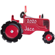 Personalized Red Tractor Ornament, One Size