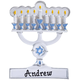 Personalized Menorah Ornament, One Size