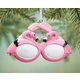 Personalized Flamingo Sunglasses Ornament, One Size