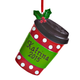Personalized Coffee Cup Ornament, One Size