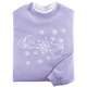 Embroidered Swirling Snowflake Cheer Sweatshirt, One Size