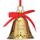 Personalized Gold Tone Christmas Bell Ornament