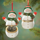 Snowman Trinket Box Ornament, One Size