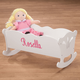 Personalized Wooden Doll Cradle, One Size