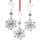 Rhinestone Snowflake Ornaments, Set of 3, One Size