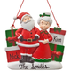 Personalized Santa and Mrs. Claus with Presents Ornament, One Size