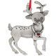 Randolph the Reporting Reindeer Pewter Ornament, One Size