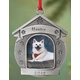 Pewter Personalized Dog House Ornament, One Size