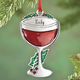 Personalized Pewter Wine Glass Ornament, One Size