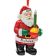 Personalized Bubble Light Santa Ornament, One Size