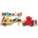 Personalized Wooden Carrier with Four Cars, One Size