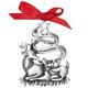 Very Dear Grandchild Pewter Ornament, One Size