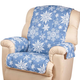 Microfiber Snowflake Recliner Cover, One Size