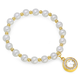 Faux Pearl Bracelet with Charm, One Size