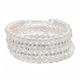 Crystal Faux Pearl Wrap Bracelet, One Size