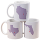Personalized State Love Mug, One Size