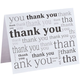 Many Thanks Note Cards, Set of 25, One Size, Black