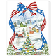 Red White and Blue Wishes Christmas Card Set/20
