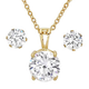 CZ Earring and Necklace Set         VR