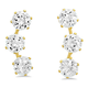 CZ Ear Climber Earrings VR Gold, One Size