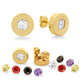 Interchangeable CZ Stud Earrings VR, One Size