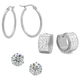 Set of 3 CZ Earrings VR, One Size