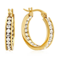 Swarovski Elements Hoop Earrings VR, One Size