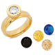 Interchangeable CZ Ring, One Size