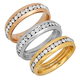 CZ Eternity Band Rings, Set of 3, One Size