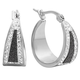 Black Diamond Dust Hoop Earrings VR, One Size