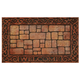 Paver Scroll Raised Rubber Mat VR, One Size