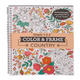 Adult Color & Frame Country Coloring Book, One Size