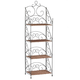 Four Tier Wicker & Metal Shelves by OakRidge™ XL, One Size