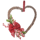 Heart Grapevine Wreath with Flowers, One Size