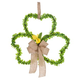Shamrock Grapevine Wreath with Flowers, One Size