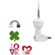 Silver Bubble Nightlight with St. Pat's & Valentine's Clips, One Size