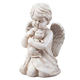 Angel with Cat Memorial Statue, One Size