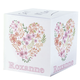 Personalized Floral Heart Self Stick Note Cube, One Size