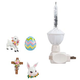 Silver Bubble Nightlight With Easter Clips, One Size