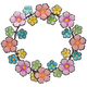 Metal Flowers Wreath by Fox River Creations™